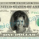 VANESSA WILLIAMS on REAL Dollar Bill Cash Money Bank Note Currency Dinero Celebrity