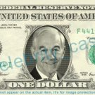 RON PAUL on REAL Dollar Bill Cash Money Bank Note Currency Dinero Celebrity