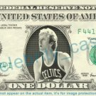 LARRY BIRD NBA Basketball on REAL Dollar Bill Cash Money Bank Note Currency