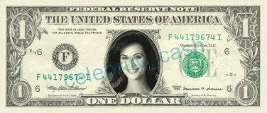 CATHERINE BELL Sarah MacKenzie JAG on REAL Dollar Bill Cash Money Bank Note