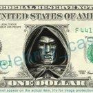 DR DOOM Marvel on REAL Dollar Bill Cash Money Bank Note Currency Dinero