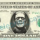 FRANKENSTEIN on REAL Dollar Bill Cash Money Bank Note Currency Dinero Celebrity