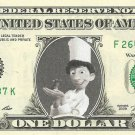 ALFREDO LINGUINI Ratatouille Disney on REAL Dollar Bill Cash Money Bank Note