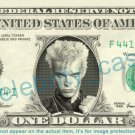BILLY IDOL on REAL Dollar Bill Cash Money Bank Note Currency Dinero Celebrity