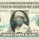 MISSY ELLIOT on REAL Dollar Bill Cash Money Bank Note Currency Dinero Celebrity