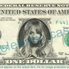 CIARA Princess Harris on REAL Dollar Bill Cash Money Bank Note Currency Dinero