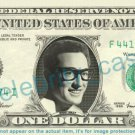 BUDDY HOLLY on REAL Dollar Bill Cash Money Bank Note Currency Dinero Celebrity