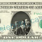MATCHBOX 20 on REAL Dollar Bill Cash Money Bank Note Currency Dinero Celebrity