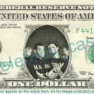 HIM Music Band on REAL Dollar Bill Cash Money Bank Note Currency Dinero