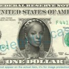 MARY J BLIGE on REAL Dollar Bill Cash Money Bank Note Currency Dinero Celebrity