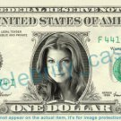 FERGIE Black Eyed Peas on REAL Dollar Bill Cash Money Bank Note Currency Dinero