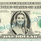 FAITH HILL on REAL Dollar Bill Cash Money Bank Note Currency Dinero Celebrity