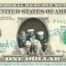 VILLAGE PEOPLE on REAL Dollar Bill Cash Money Bank Note Currency Dinero