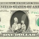 THE SIMPSONS on REAL Dollar Bill Cash Money Bank Note Currency Dinero Celebrity