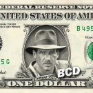INDIANA JONES Harrison Ford On Real Dollar Bill Cash Money Bank Note Currency