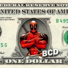 DEADPOOL Marvel Comics On Real Dollar Bill Cash Money Bank Note Currency Dinero