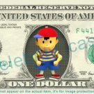 NESS Earthbound On Real Dollar Bill Cash Money Bank Note Currency Dinero