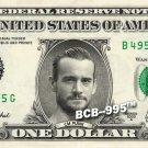 CM PUNK Wrestler WWE on REAL Dollar Bill Cash Money Bank Note Currency Dinero