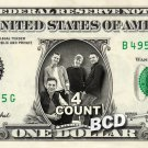 4 COUNT Music Band on REAL Dollar Bill Cash Money Bank Note Currency Dinero
