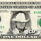 ALAN JACKSON Country Singer on REAL Dollar Bill Cash Money Bank Note