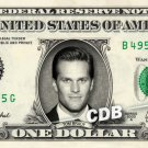 TOM BRADY on a REAL Dollar Bill Cash Money Collectible Memorabilia Charlie Bank