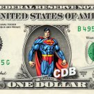 SUPERMAN Marvel Comic on REAL Dollar Bill Cash Money Bank Note Currency Dinero