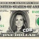 KATE MIDDLETON on REAL Dollar Bill Cash Money Bank Note Currency Celebrity