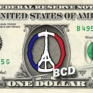 PARIS PEACE SIGN on REAL Dollar Bill Cash Money Bank Note Currency Celebrity