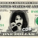 FRANK ZAPPA on REAL Dollar Bill Cash Money Bank Note Currency Celebrity Dinero