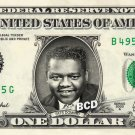 FATS DOMINO on REAL Dollar Bill Cash Money Bank Note Currency Celebrity Dinero