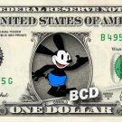 OSWALD on REAL Dollar Bill Cash Money Bank Note Currency Celebrity Dinero