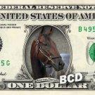 AMERICAN PHAROAH on REAL Dollar Bill Cash Money Bank Note Currency Racing Horse