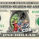 AGE OF ULTRON on REAL Dollar Cash Money Memorabilia Collectible Marvel Disney
