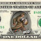 JOHN SILVER - Treasure Planet on REAL Dollar Bill Disney Cash Money Memorabilia