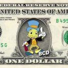 Jiminy Cricket on REAL Dollar Bill Disney Cash Money Collectible Memorabilia Celebrity