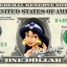 JASMINE Princess on REAL Dollar Bill Disney Cash Money Memorabilia Collectible
