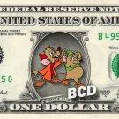JAQ AND GUS - Cinderella on REAL Dollar Bill Disney Cash Money Memorabilia Mint