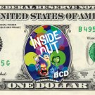 INSIDE OUT the Movie on REAL Dollar Bill Disney Cash Money Memorabilia Mint $$$