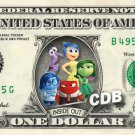 INSIDE OUT the Movie on REAL Dollar Bill Disney Cash Money Memorabilia Mint