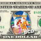 HERCULES the movie on REAL Dollar Bill Disney Cash Money Memorabilia Collectible