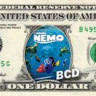 FINDING NEMO the Movie on REAL Dollar Bill Disney Cash Money Memorabilia Collectible Mint