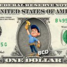 FIX-IT FELIX JR Wreck-It Ralph on REAL Dollar Bill Disney Cash Money Memorabilia