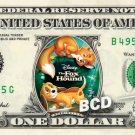 FOX AND THE HOUND the Movie on REAL Dollar Bill Disney Cash Money Memorabilia