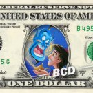 GENIE AND ALADDIN on REAL Dollar Bill Disney Cash Money Memorabilia Collectible