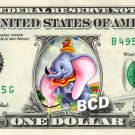 DUMBO AND FRIENDS on REAL Dollar Bill Disney Cash Money Memorabilia Collectible