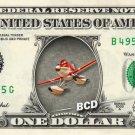DUSTY CROPHOPPER - Planes on REAL Dollar Bill Disney Cash Money Memorabilia Mint