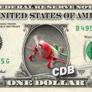 EL CHUPACABRA - Planes on REAL Dollar Bill Disney Cash Money Memorabilia Mint