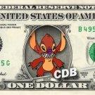 EVILE - Lilo & Stitch on REAL Dollar Bill Disney Cash Money Memorabilia Mint