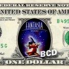 FANTASIA the Movie on REAL Dollar Bill Disney Cash Money Memorabilia Collectible