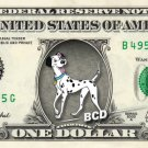 PONGO - 101 Dalmatian on REAL Dollar Bill Disney Cash Money Memorabilia